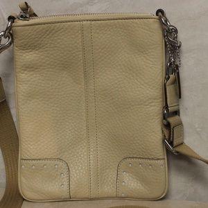 Coach Leather Bone Crossbody Bag 9760